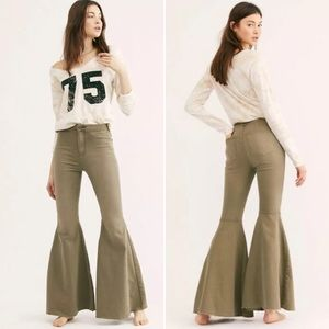 NEW Free People Just Float On Flare Jeans 30 R